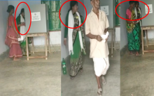 Lady polling agent tries to influence voters, See shocking viral video