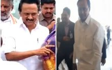 Stalin, Telangana CM arrive for Jagan Reddy's swearing-in