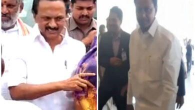 Photo of Stalin, Telangana CM arrive for Jagan Reddy's swearing-in