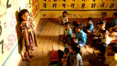 Photo of MP Collector's daughter studies in 'anganwadi'