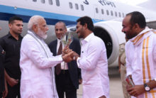 AP CM Welcome PM Modi at Tirupati