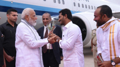 Photo of AP CM Welcome PM Modi at Tirupati