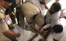 Police Foiled Bhatti ,s hungerstrike