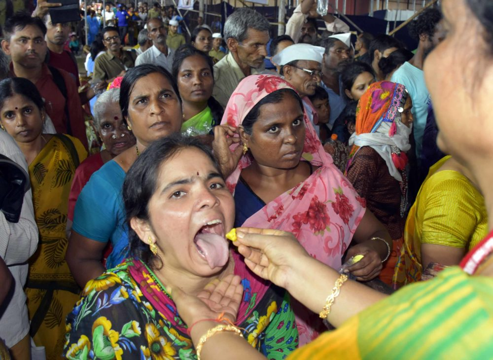 Thousands from all over India have fish medicine in Hyderabad