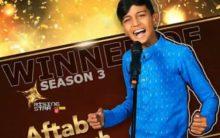 "Aftab wins reality TV show ""Rising Star 3"""