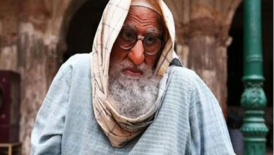 Photo of Amitabh Bachchan's first quirky look from 'Gulabo Sitabo' revealed