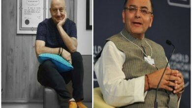 Photo of Anupam Kher meets Jaitley, finds former FM healthy, happy