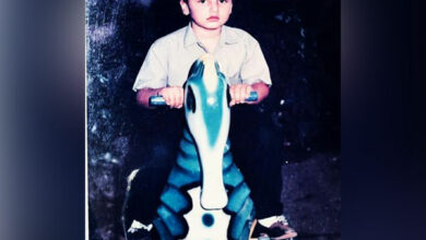 Photo of Arjun Kapoor posts childhood picture on toy horse