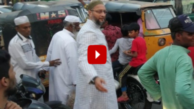 Photo of Asaduddin Owaisi clears traffic in Old City, video goes viral