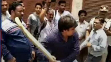 Photo of Goondaism: BJP MLA's son publicly thrashes government officials with 'cricket bat'