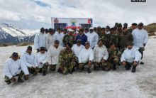 BSF troopers perform yoga at height 14,000 feet near LoC in J-k