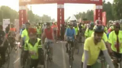 Photo of Delhites celebrate cycling at India Gate