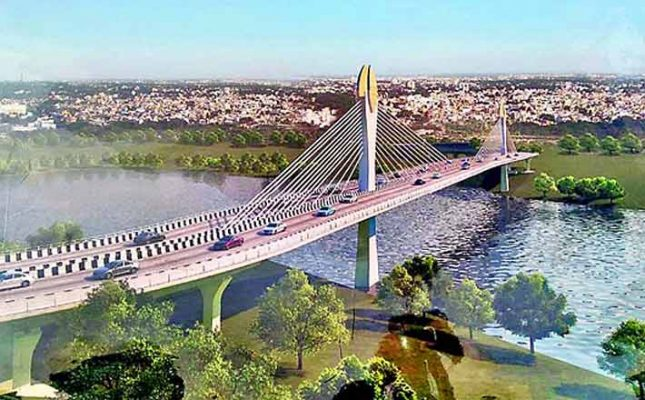 Durgam Cheruvu Cable Bridge inspected by officials