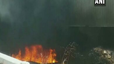 Photo of Delhi: Fire breaks out in scrap pile under Barapullah flyover