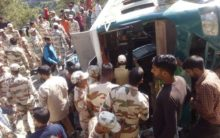 J-K: 14 injured after bus overturns, ITBP officers come to rescue