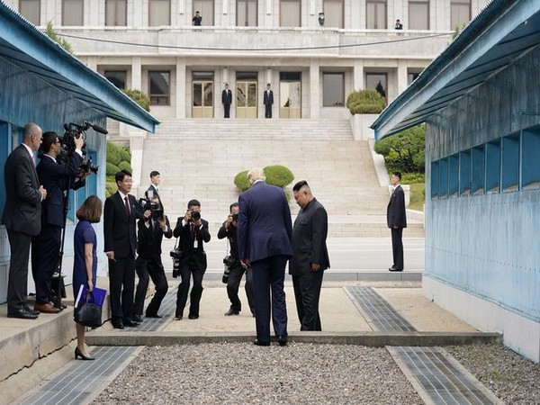 Trump meets Kim in N Korea, scripts history