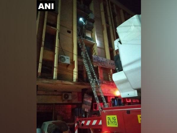 Delhi: Fire breaks out in building on Shankar Roadad