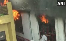Fire breaks out in sports goods factory in Meerut