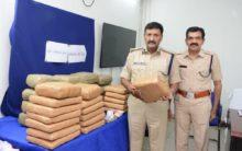 Ganja smuggling racket busted-five interstate drug peddlers held seized 82 kgs of ganja