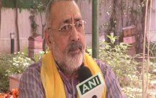 Giriraj Singh asks people to make 'population control law' a movement