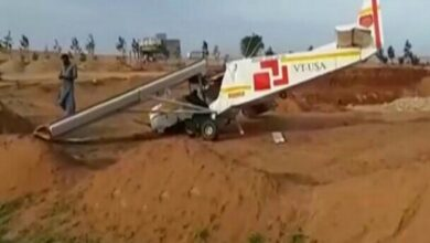 Photo of Telangana: Hang glider crashes in Siddipet, 2 injured