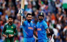 India vs Pakistan LIVE: Rohit, Kohli power India to 336/5