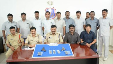 Photo of SOT along with Meerpet police apprehended two inter state illegal arm traders