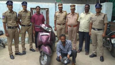 Photo of 240 grams of ganja seized in Charminar, one held