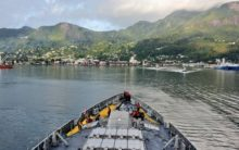 INS Kochi enters Port Victoria in Seychelles for Operational Turnaround