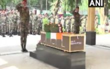 Indian Army pays tribute to paratrooper martyred in counter-terror operation in Shopian