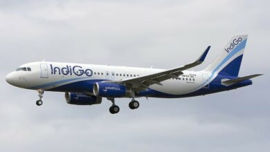 Photo of IndiGo flight's emergency landing in Jaipur after engine trouble