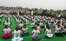 International Yoga Day at Hussain Sagar Lake
