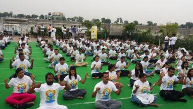 Photo of International Yoga Day at Hussain Sagar Lake