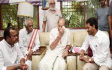 AP CM Jagan, ex-Union Minister Dattatreya pay tributes to Vijaya Nirmala