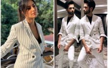 Fashion face-off: Katrina Kaif or Shahid Kapoor, who wore the pantsuit better?