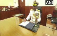 K Natarajan takes charge as Indian Coast Guard chief