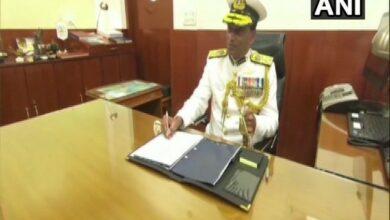 Photo of K Natarajan takes charge as Indian Coast Guard chief