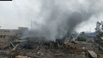 Photo of 2 injured as fire engulfs cycle parts manufacturing factory in Ludhiana