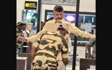 Former AP CM Chandrababu Naidu frisked at Vijayawada airport