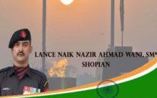 Army school named after Lance Naik Nazir Ahmad Wani