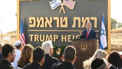 Photo of Netanyahu renames Golan heights after Trump