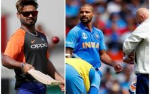 Rishabh Pant called in to cover for injured Shikhar Dhawan