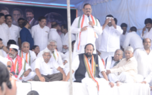 Congress leaders hunger strike at Indra Park