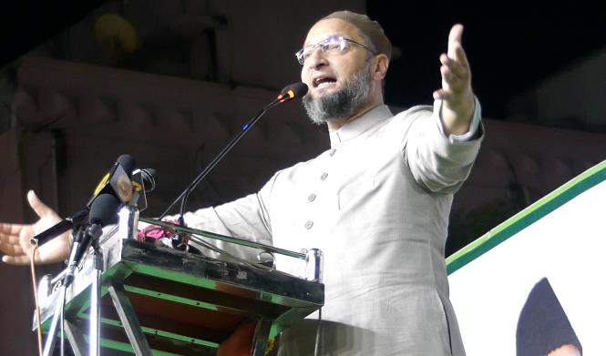 Asaduddin owaisi addressed in Jalsa Yaad e Salar