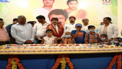 Photo of Balayya celebrates birthday in cancer hospital
