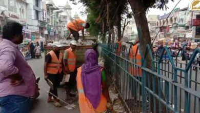 Photo of Siasat Impact: GHMC Clear garbage at Madina X Road