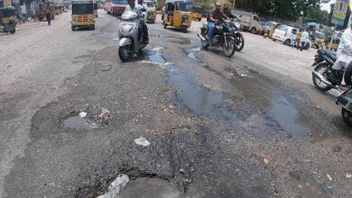 Photo of Potholes, damaged roads are troubling the people in Chandryangutta