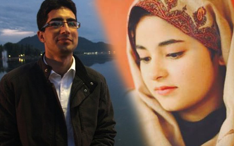 Image result for Omar Abdullah support for zaira wasim decision