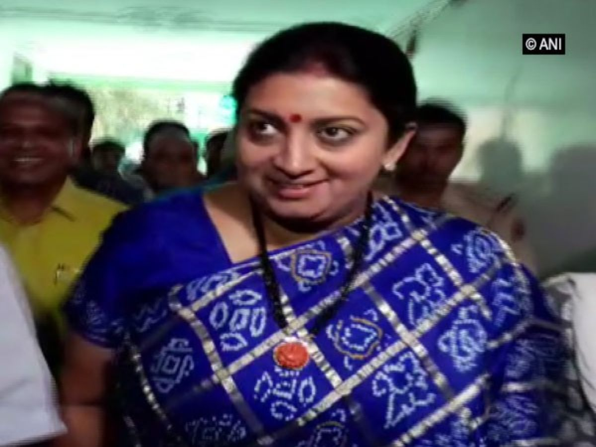 WATCH- Smriti Irani expresses displeasure at own MP after