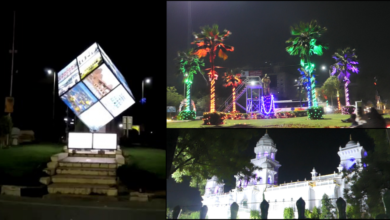 Photo of Telangana Formation Day: Hyderabad city illuminated